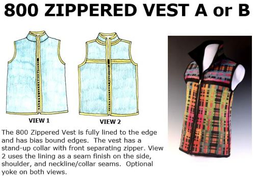 800 Zippered Vest