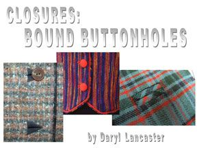 Digital: Bound Buttonholes