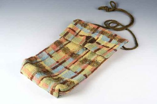 Silk Cotton Plaid Bag